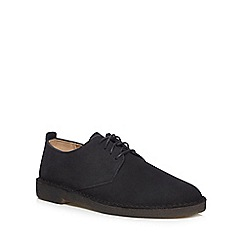 Clarks - Black 'Desert' suede shoes