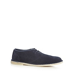 Clarks - Navy 'Jink' suede lace up shoes