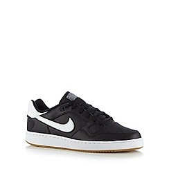 Nike - Black 'Son Of Force' leather trainers