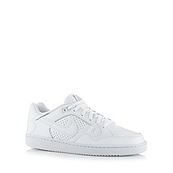 Nike - White 'Son Of Force' leather trainers