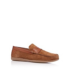 Red Herring - Tan suede driving sole loafers