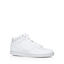 Nike - White 'Night Gazer' leather blend trainers