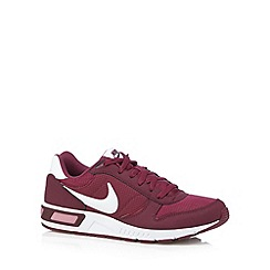 Nike - Plum 'Night Gazer' leather trainers