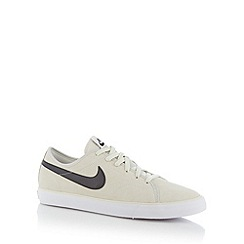 Nike - Dark cream 'Primo Court' suede trainers