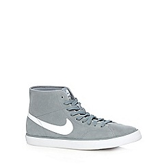 Nike - Grey 'Primo Court Mid Leather' trainers