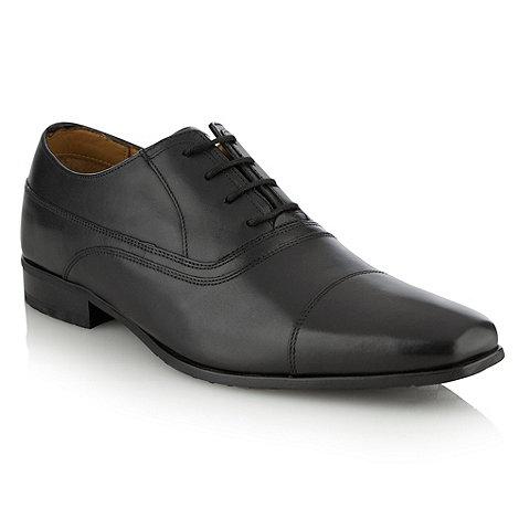 Henley Comfort - Black +Airsoft+ toe cap shoes