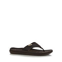 Rider - Brown soft toe post sandals