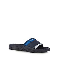 Rider - Navy block strap sandals