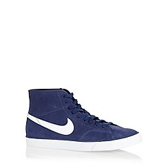 Nike - Navy 'Primo Court Mid Leather' trainers