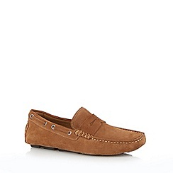 J by Jasper Conran - Designer tan suede slip on shoes