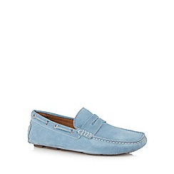 J by Jasper Conran - Designer blue suede slip on shoes