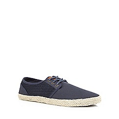 Red Herring - Navy lace up espadrilles
