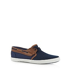 Red Herring - Navy mesh boat shoes