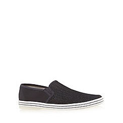 Red Herring - Navy mesh slip on shoes
