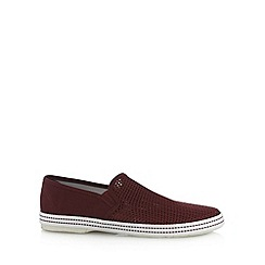 Red Herring - Wine mesh slip on shoes