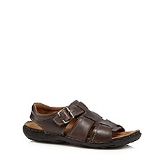 Mantaray - Chocolate leather buckle sandals
