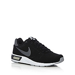 Nike - Navy leather 'Night Grazer' trainers