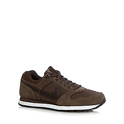 Nike - Brown 'MD Runner' suede trainers