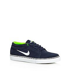 Nike - Navy 'Satire Mid' suede trainers