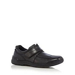 Hush Puppies - Black leather single strap shoes