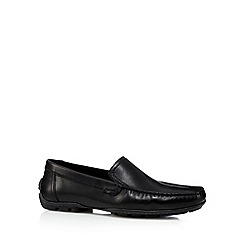 Hush Puppies - Black leather slip on shoes