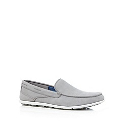 Rockport - Grey 'Adiprene' suede slip on shoes