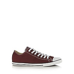Converse - Dark red canvas lo-top trainers