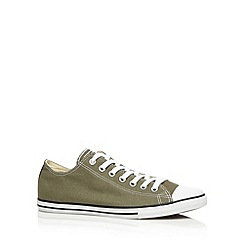 Converse - Khaki 'All Star' canvas trainers