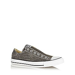 Converse - Black 'All Star' slip on canvas trainers
