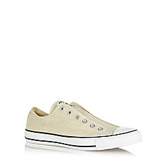 Converse - Cream 'All Star' slip on canvas trainers
