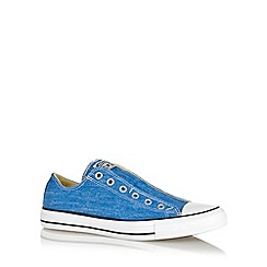 Converse - Blue 'All Star' slip on canvas trainers