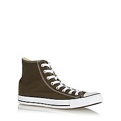 Converse - Khaki 'All Star' canvas hi-top trainers
