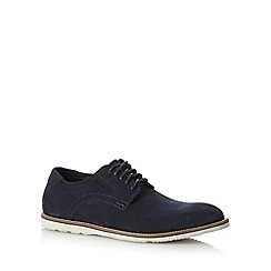 Rockport - Navy 'Adiprene' suede lace up shoes
