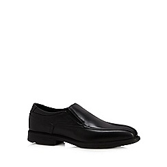 Rockport - Black leather waterproof slip on shoes