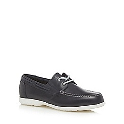 Rockport - Navy 'Adiprene' leather boat shoes