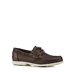Rockport - Dark brown leather boat shoes