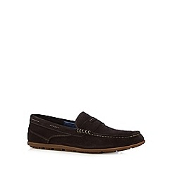 Rockport - Tan suede slip on shoes