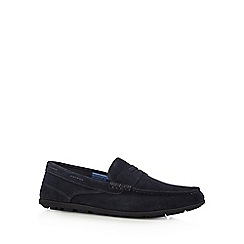 Rockport - Navy suede slip on shoes