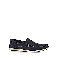 Rockport - Navy leather slip on shoes