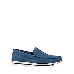 Rockport - Blue leather slip on shoes