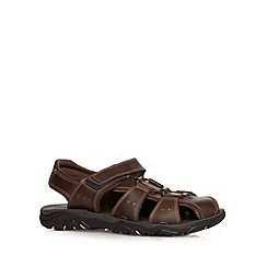 Rockport - Brown 'Adiprene' leather rip tape sandals