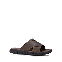 Rockport - Brown anti friction flip flops