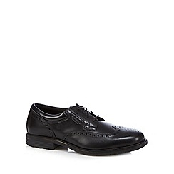 Rockport - Black 'Adiprene' leather lace up brogues