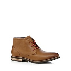 Rockport - Tan 'Adiprene' leather lace up ankle boots