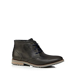 Rockport - Navy 'Adiprene' leather lace up ankle boots