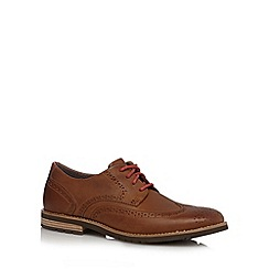Rockport - Tan brogue leather lace up shoes