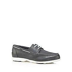 Rockport - Grey 'Adiprene' leather boat shoes