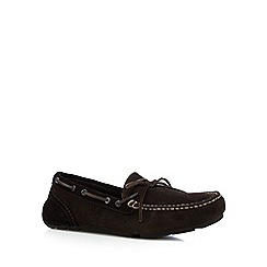 Rockport - Chocolate 'Adiprene' suede lace up slip on shoes