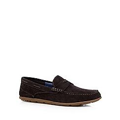 Rockport - Chocolate 'Adiprene' suede slip on shoes