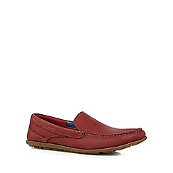 Rockport - Red 'Adiprene' leather slip on shoes